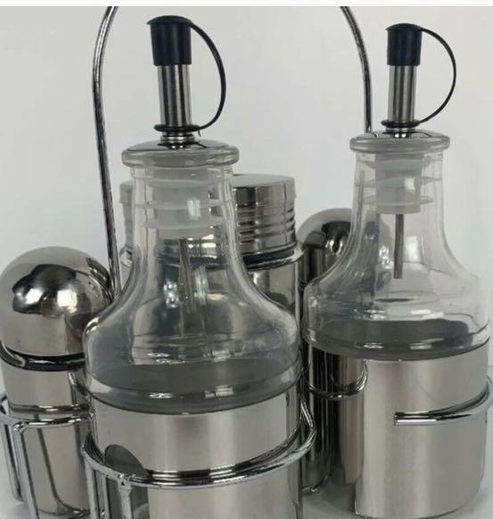 Brand New in box Parini 6-Piece Stainless Steel Condiment Set$23