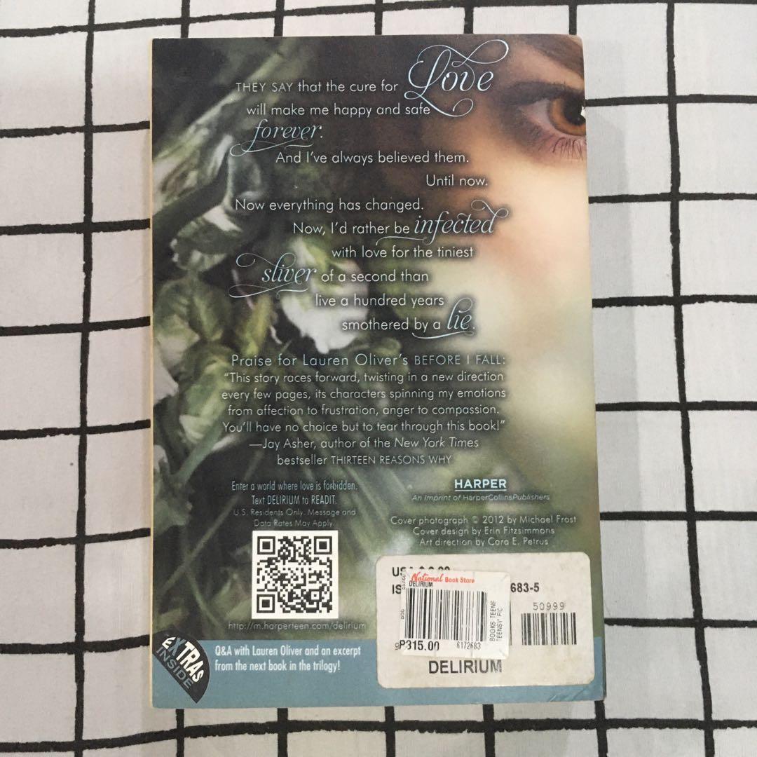 Delirium, Pandemonium & Requiem by Lauren Oliver (Complete Paperback Book Set)