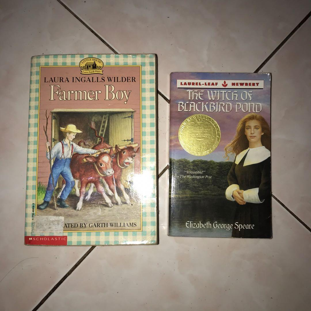 Farmer Boy by Laura Wilder and The witch of Blackbord Pond by Elizabeth Speare