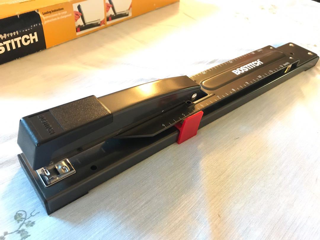 Heavy duty long reach stapler