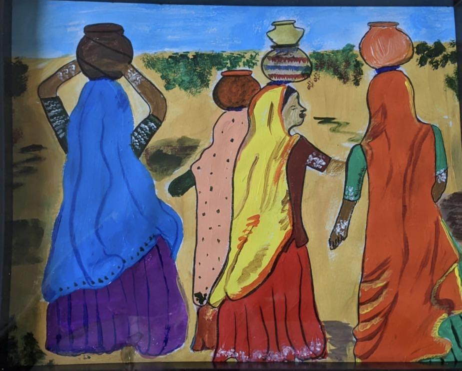 Indian village Canvas Painting