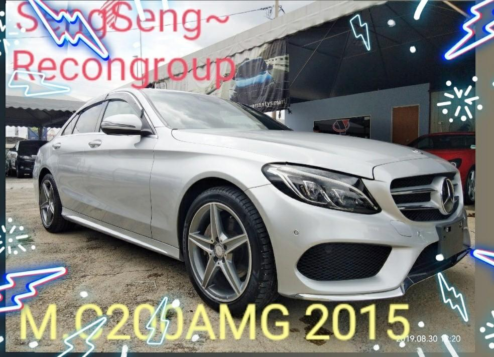 MERCEDES C200AMG 2.0TURBO ROCEN2015✔From:Japan🇯🇵unregistered.✔ON THE ROAD PRICE RM168,888.88👍📲www.wasap.my/0122367272/SengSeng☺🙏