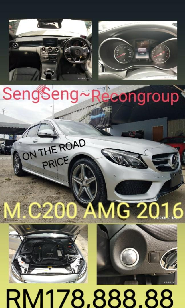 MERCEDES C200AMG 2.0TURBO ROCEN2016✔From:Japan🇯🇵unregistered.✔On the road~⭐⭐⭐ PRICE RM179,888.88  📲www.wasap.my/0122367272/SengSeng☺🙏