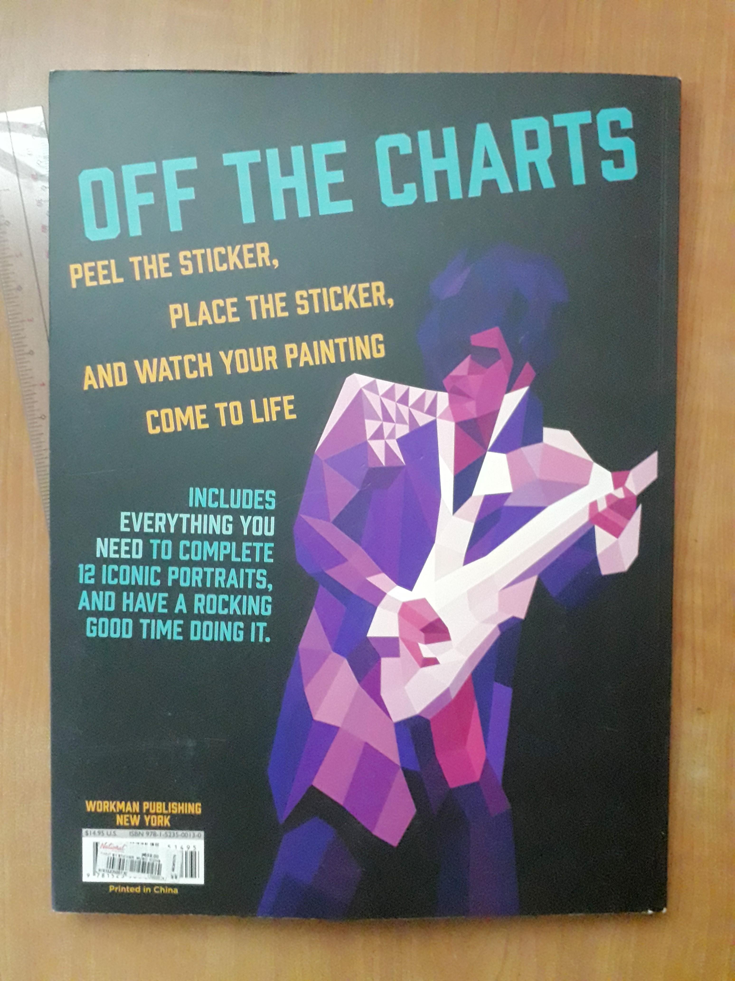 Paint by Sticker Music Icons (michael jackson, kurt cobain, nina simone, dolly Parton, elvis presley, cher, prince, weird al, beyonce, the beatles, david bowie, madonna posters)