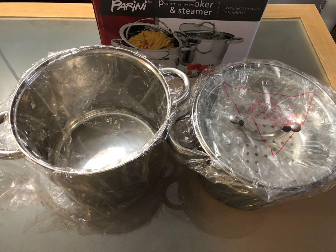 Parini Pasta Cooker & Steamer With Integrated Colander 4 Pc Set$50
