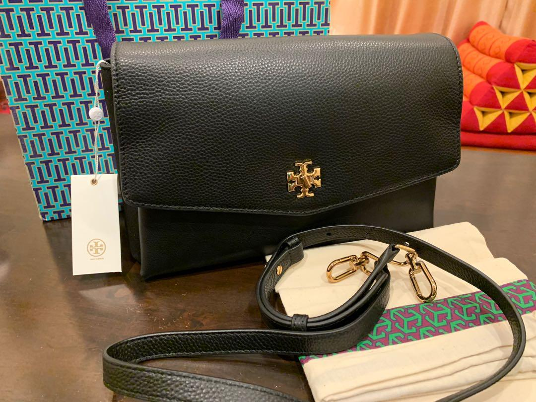 Ready Stock authentic Tory Burch Kira chevron mix material sling bag handbag