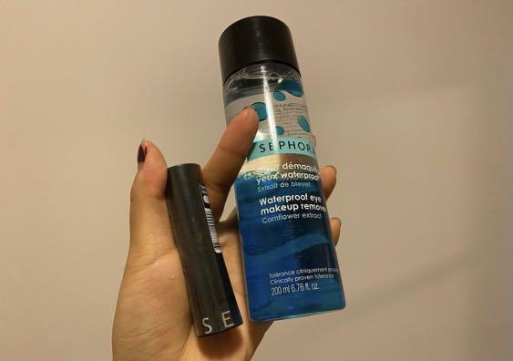 Sephora lipstick #R86 + make up remover
