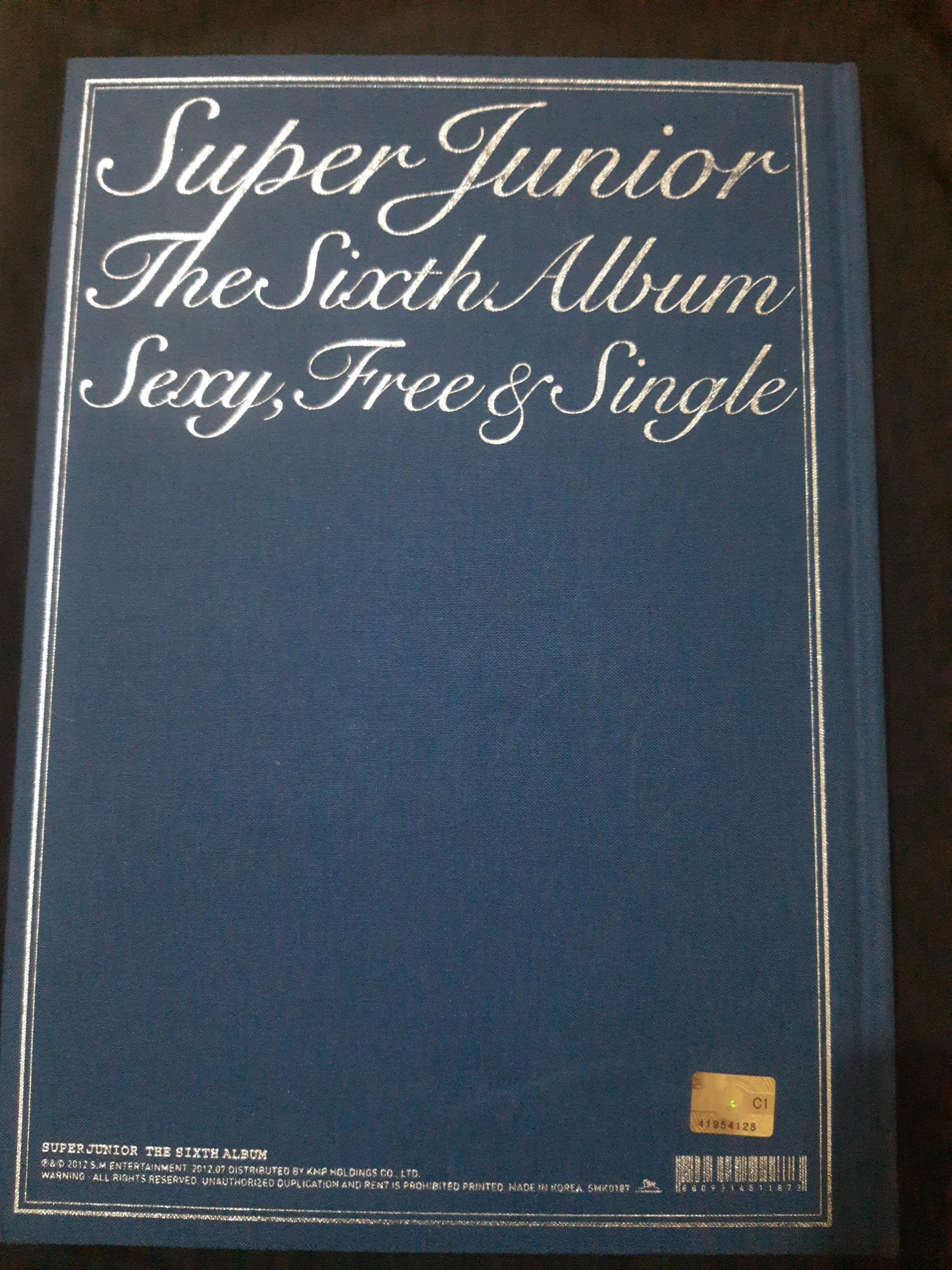 Super junior 6th album sexy free & single ori Korea