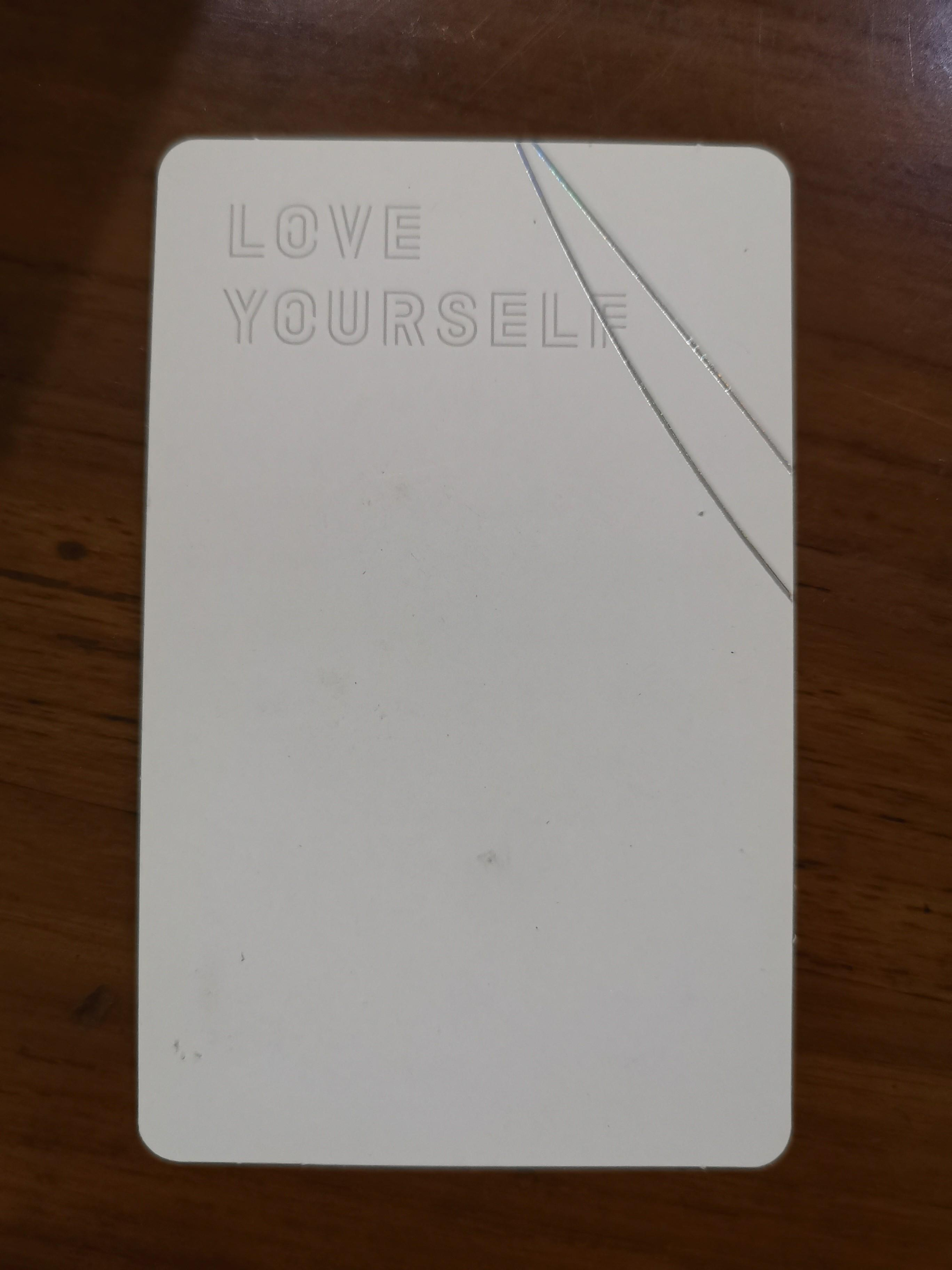 WTS BTS JIN LOVE YOURSELF VER V OFFICIAL PHOTOCARD