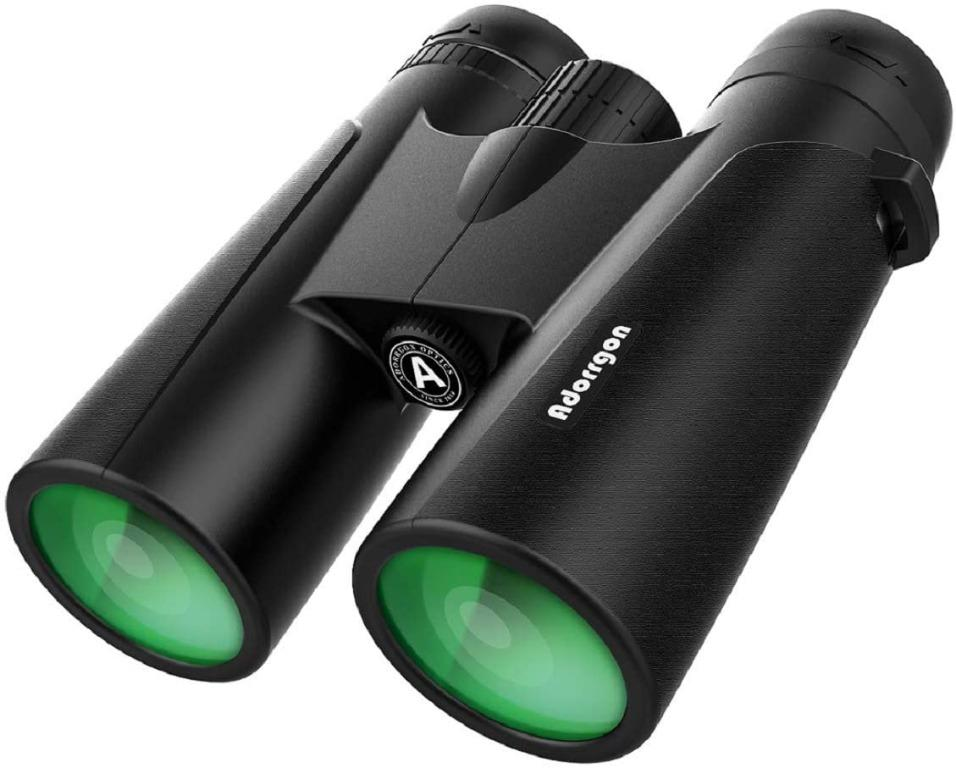 12×42 Powerful Binoculars with Clear Weak Light Vision – Lightweight (1.1 lbs.) Binoculars for Birds Watching Hunting Sports – Large Eyepiece Binoculars for Adults with BAK4 FMC Lens