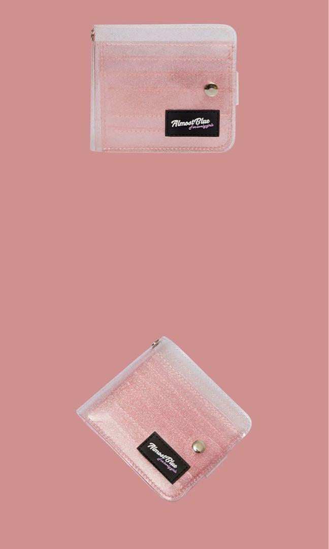 AUTHENTIC Almost Blue Twinkle Jelly Wallet - Peach
