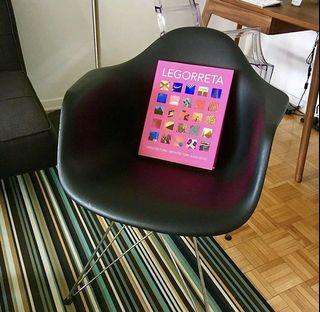 Black Modern Eiffel Style Armchair with Steel Legs