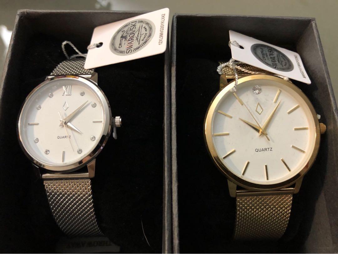 Brand New Elizabeth & Philip watch set Swarovski $99