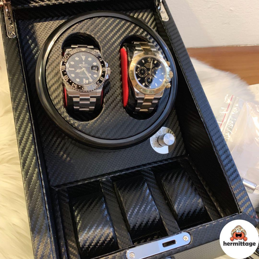 BRAND NEW, INSTOCK LUXURY WATCH WINDER 2 + 3 (suitable for rolex, tudor, tag heuer, seiko, iwc, panerai, ap, pp, hamilton etc)