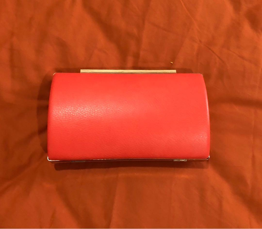 Coral Clutch/side bag.