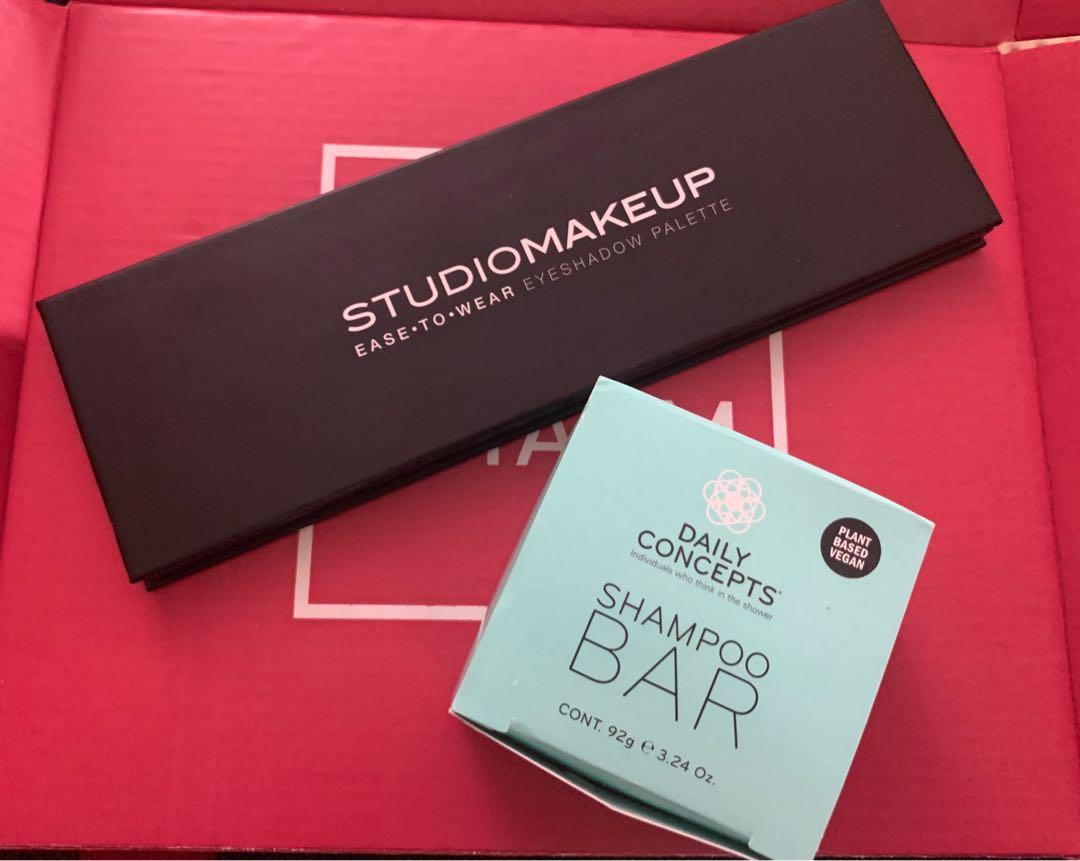 Eyeshadow Palette and Shampoo Bar