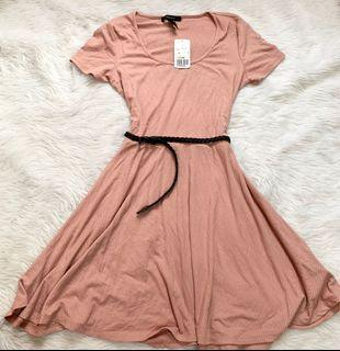 Forever 21 ribbed dress with belt