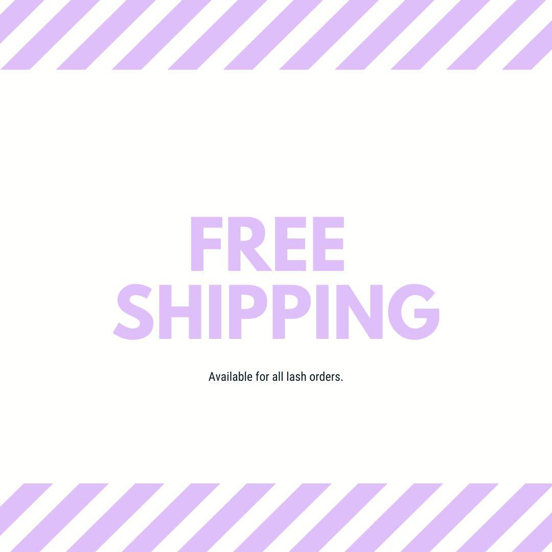 FREE SHIPPING ON ALL LASH ORDERS