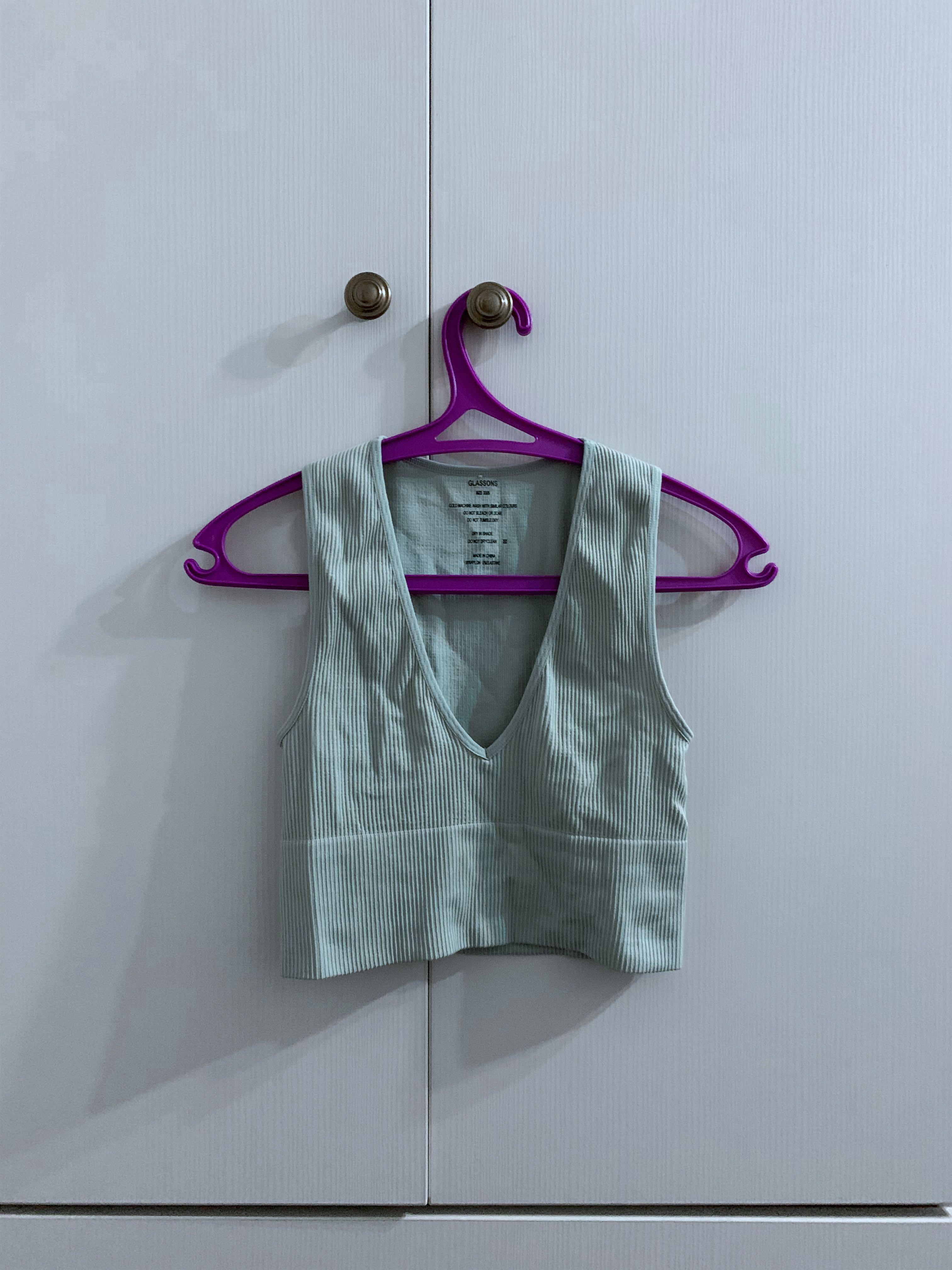 Glassons teal green ribbed singlet