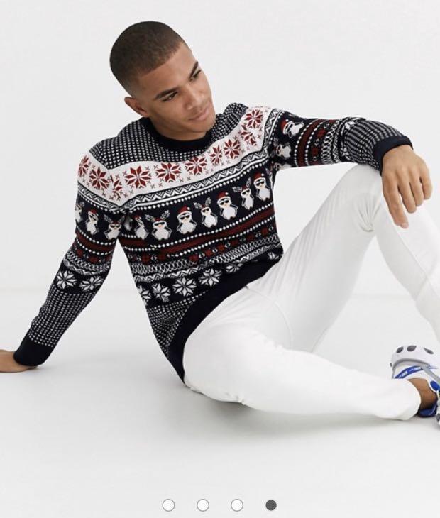 Holidays sweater in penguin fairisle