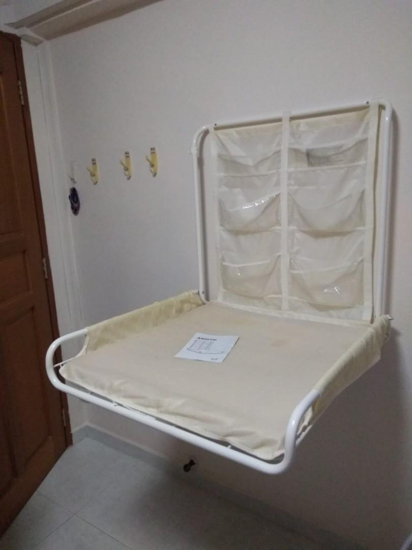Ikea Antilop Wall Mounted Foldable Changing Table Babies Kids Cots Cribs On Carousell