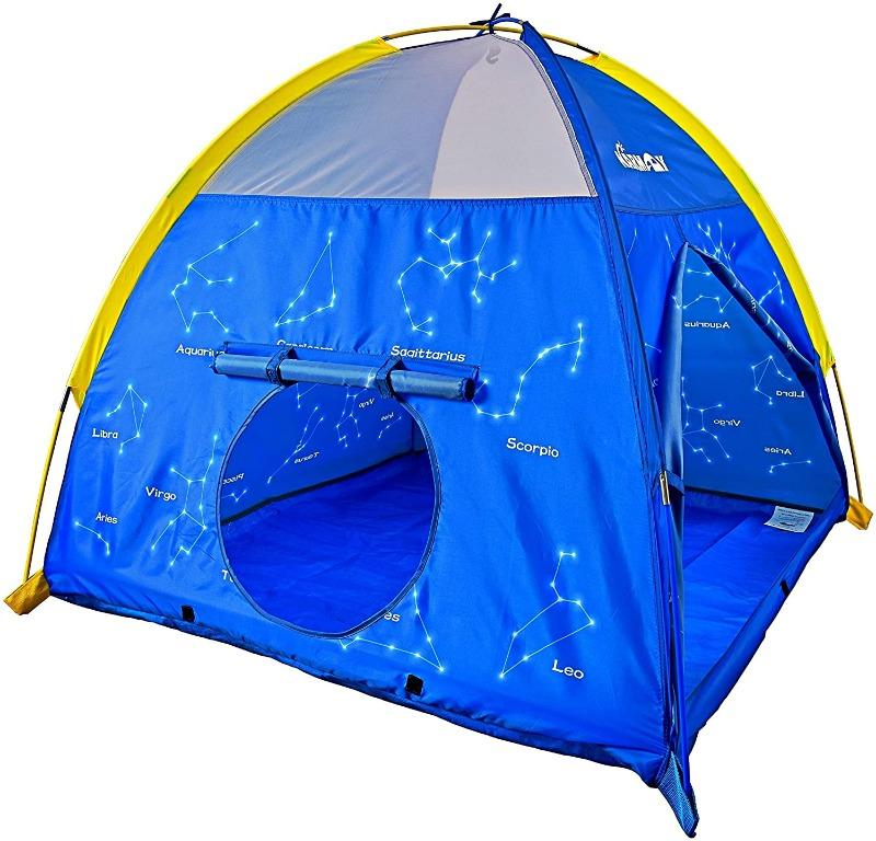NARMAY Play Tent Twinkle Zodiac Dome Tent for Kids Indoor / Outdoor Fun – 48 x 48 x 40 inch