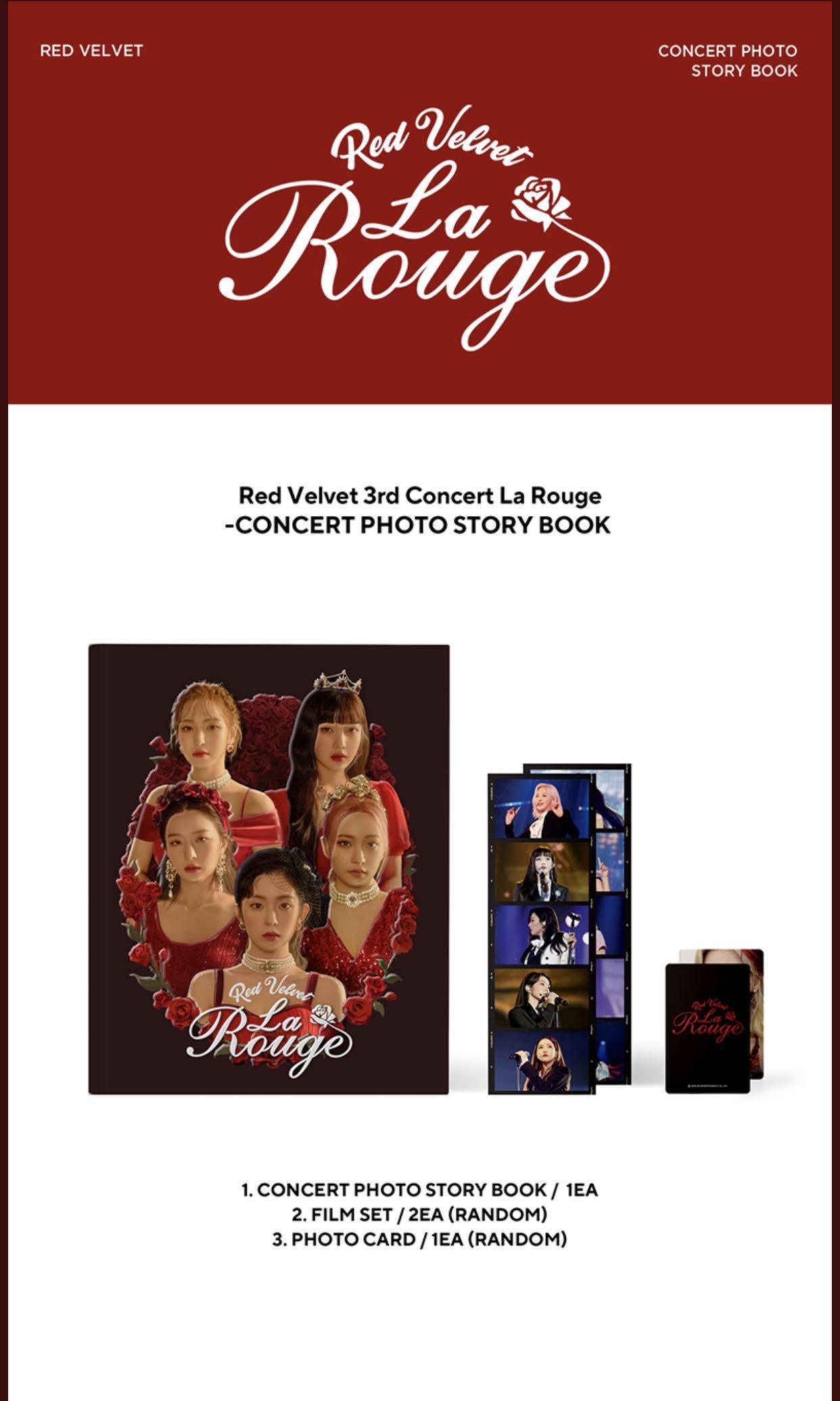[PO]Red Velvet 3rd Concert La Rouge Photobook & Live Album