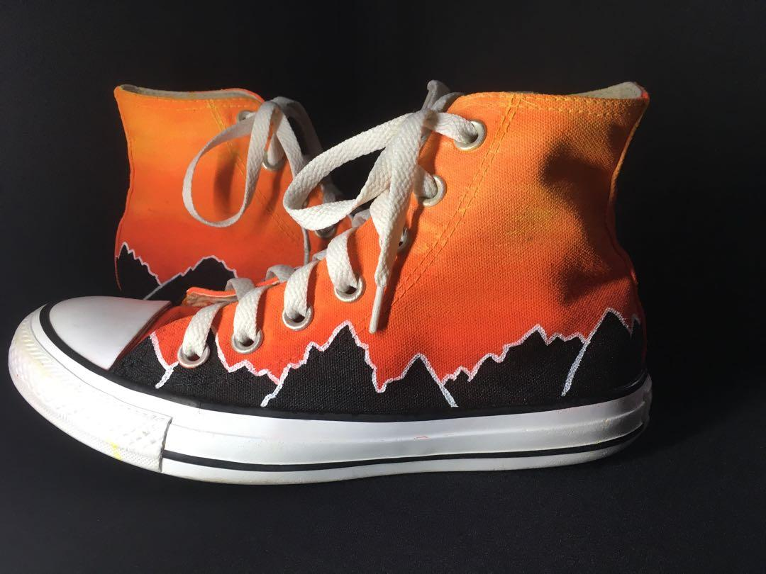 Sunset mountains customised shoes
