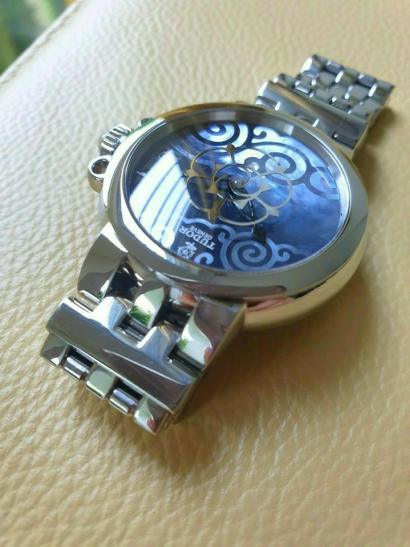 Tudor Rose Blue Mother of Pearl Dial Ladies Steel Automatic                                                                                  Rolex Tudor Cartier Omega IWC AP Chopard Tag Heuer Apple