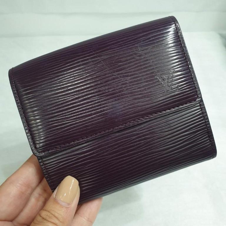 Used Preloved Louis Vuitton Lv Women S Epi Leather Short Wallet Purple Violet Luxury Bags Wallets Wallets On Carousell