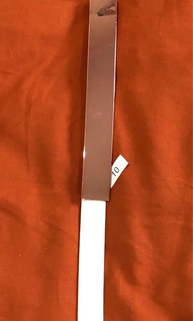 White metal belt