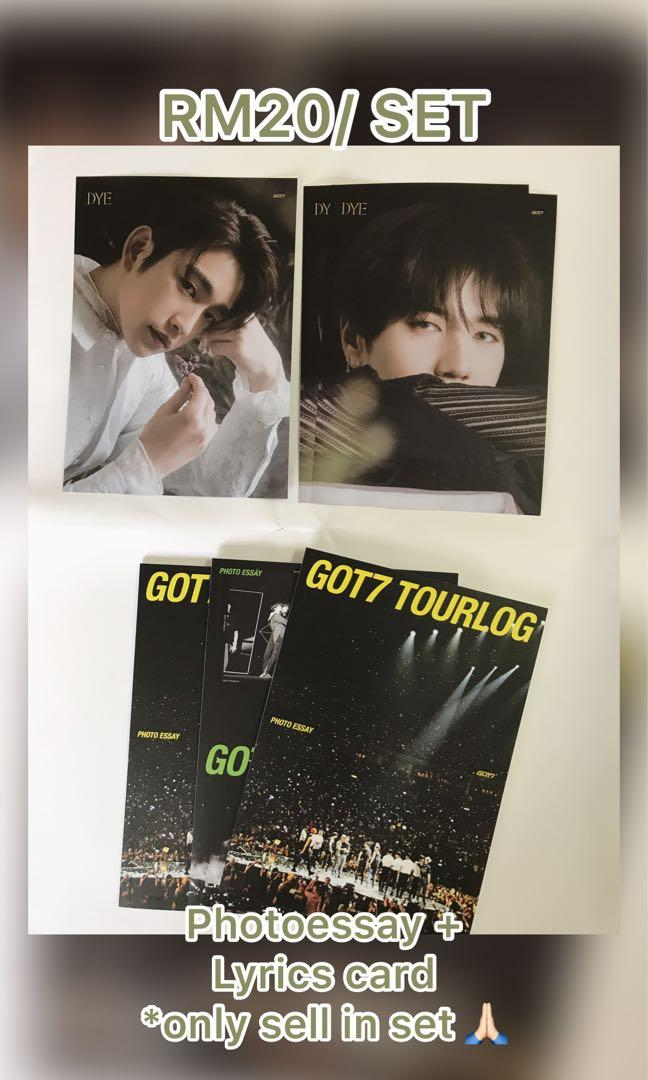 [WTS] [SET ONLY] GOT7 Photoessay and lyrics card set