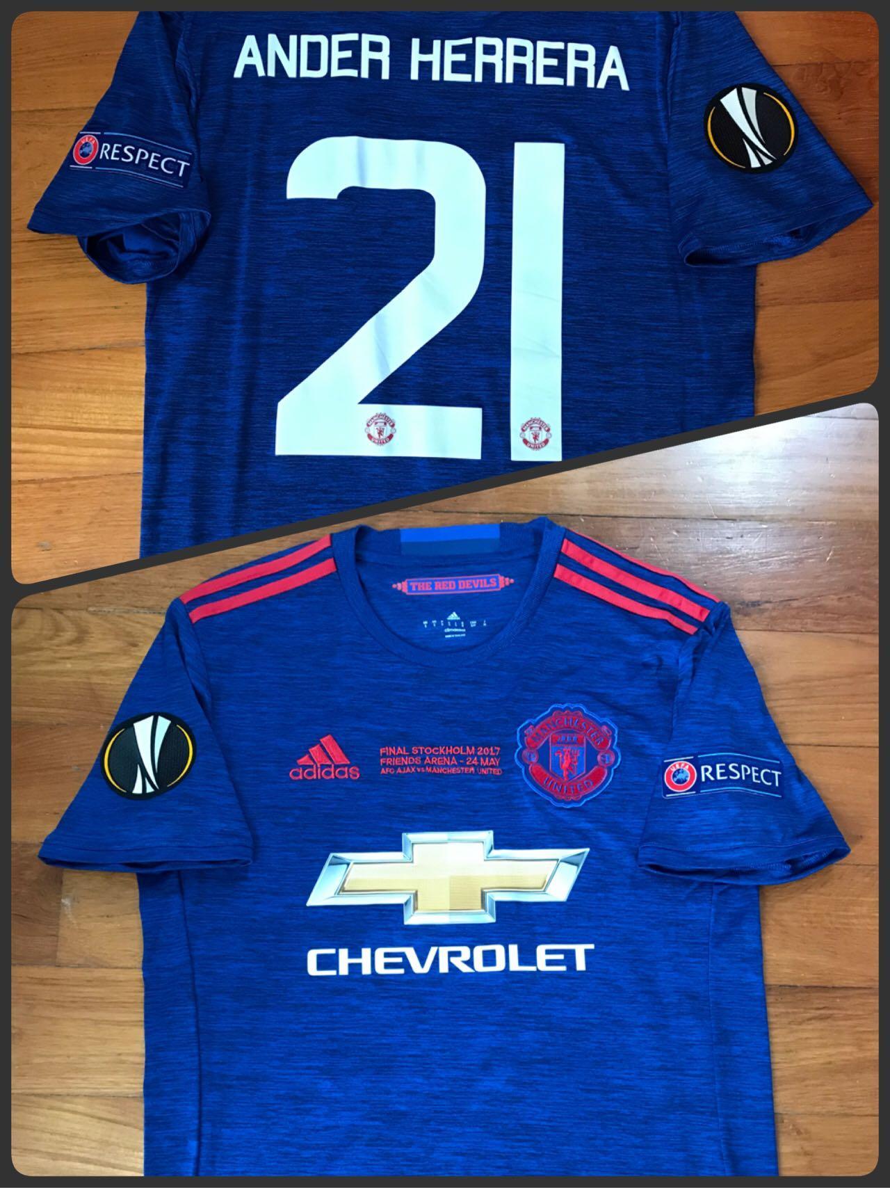 Rooney 10 Manchester United 2017 Europa Final Away Football Nameset for shirt