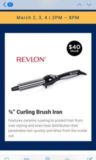 "Brand New Revlon Curling Brush Iron 3/4"" $25"