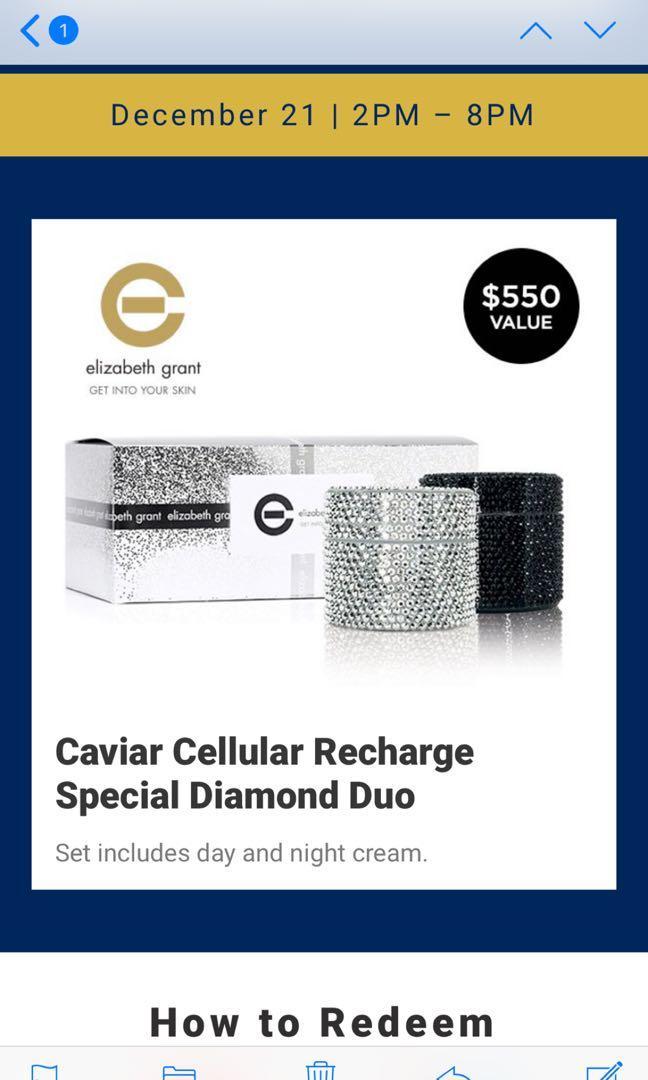Elizabeth Grant Caviar Cellular Recharge  Spc  Diamond Edition$150