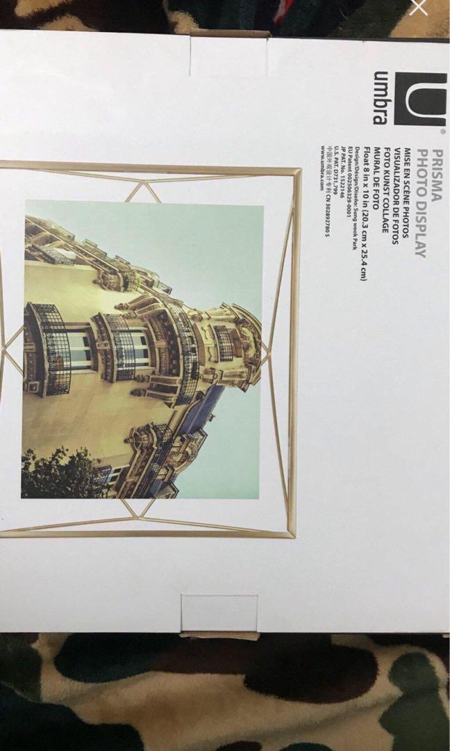 Umbra prism gold photo frame/ tray