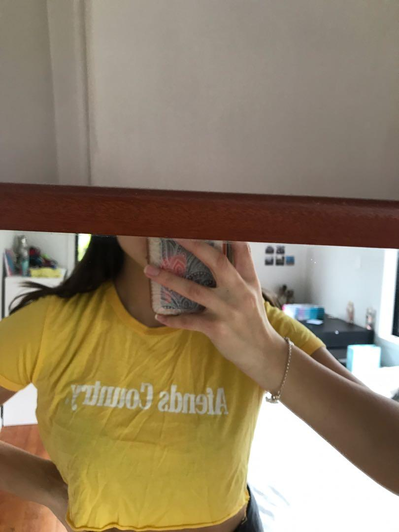 Afends cropped tee