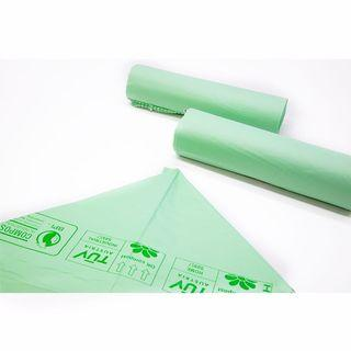 """Biodegradable and compostable """"PLA"""" Garbage bags 10 pcs for roll 113L"""