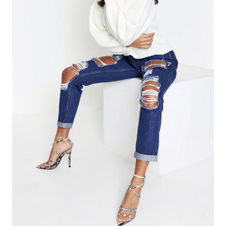 Boohoo ripped jeans