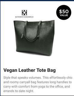 Brand New Katherine karambelas Vegan Leather Tote Bag  $25