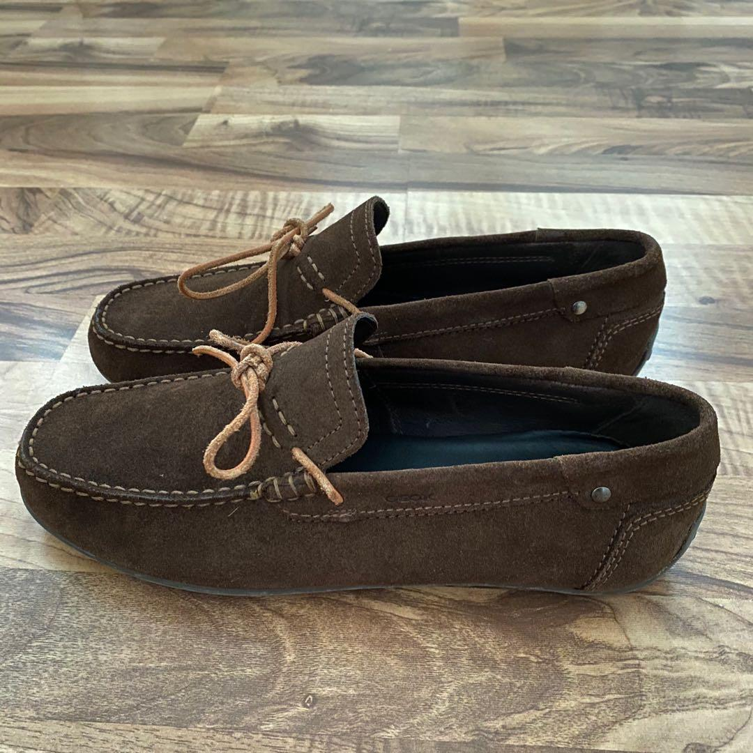 realeza aquí Museo  GEOX Men Respira Leather Suede Moccasin Shoes, Men's Fashion, Footwear,  Formal Shoes on Carousell