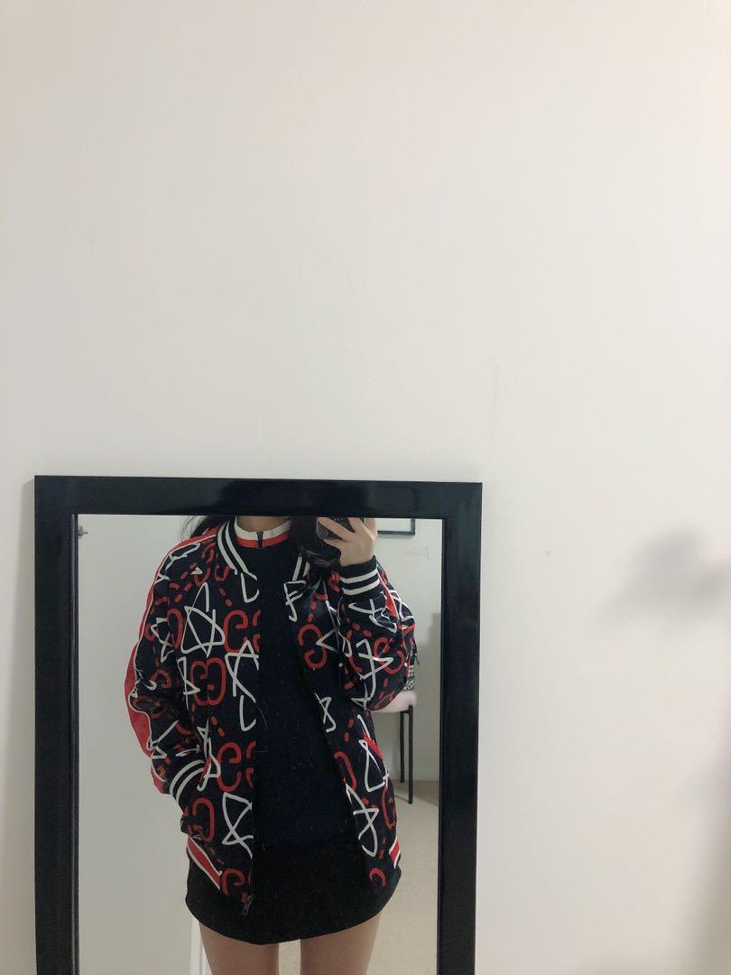 gucci ghost bomber jacket
