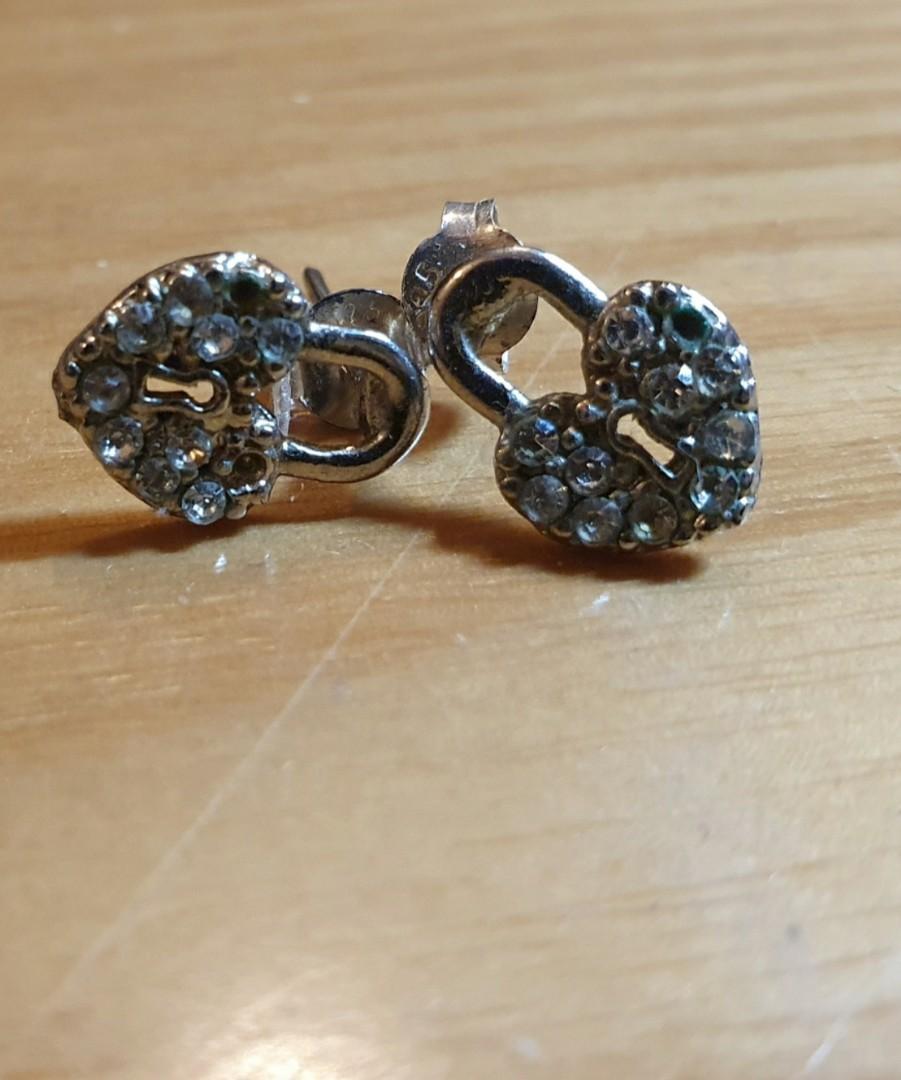 Heart locket earrings