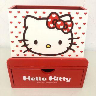 Hello kitty筆筒手機支架置物盒