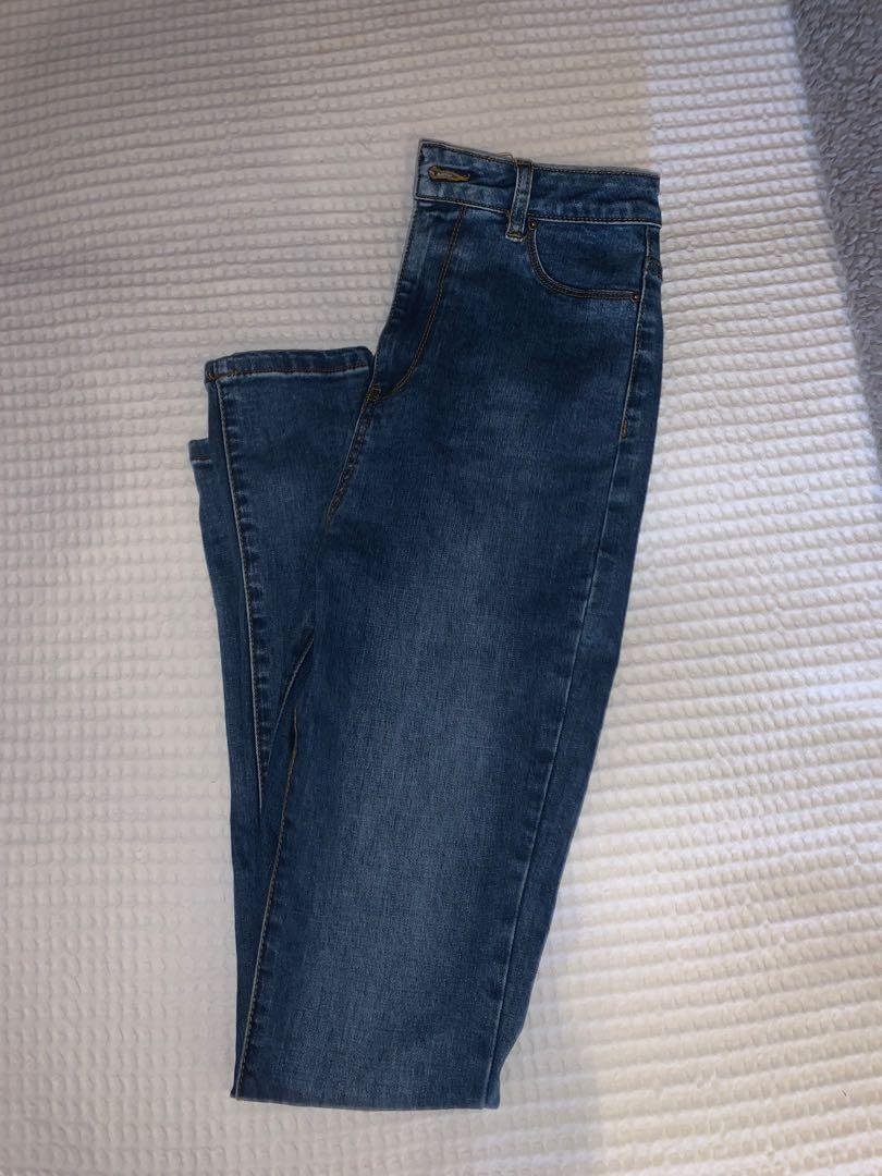 High waisted glassons jeans