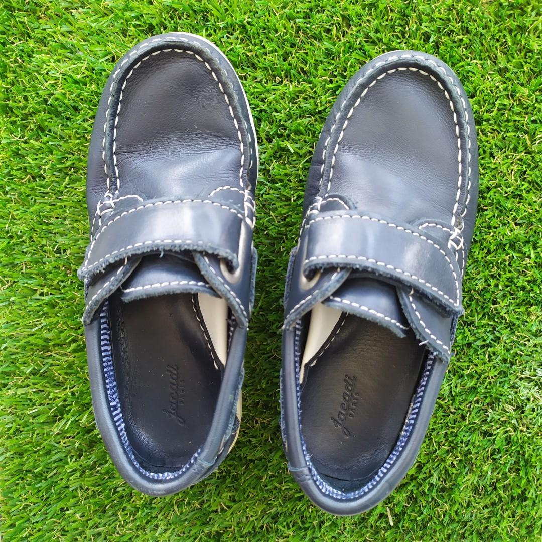 Jacadi Boy Leather Boat shoes size 30