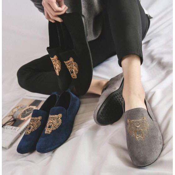 Kenzo Tiger Loafers Embroidery Shoes