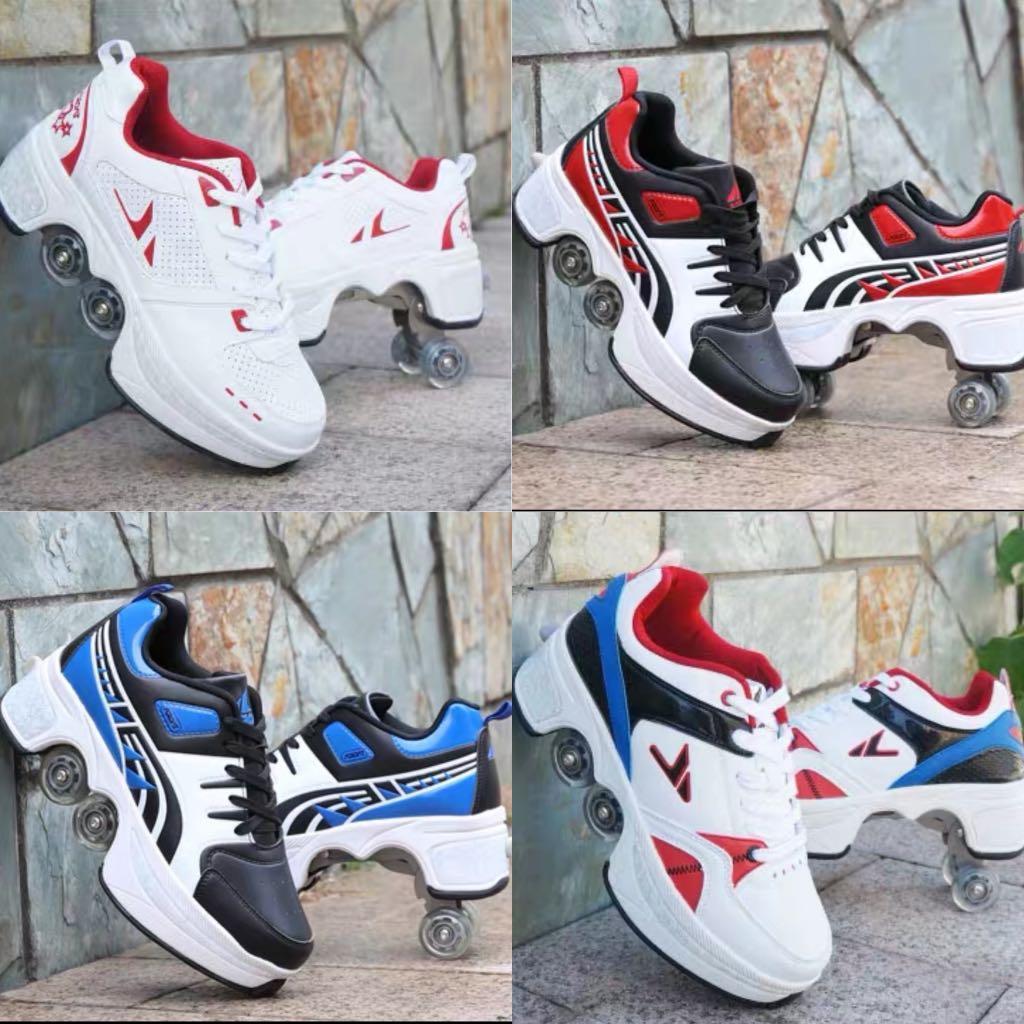 Kick roller shoe / roller skate shoe