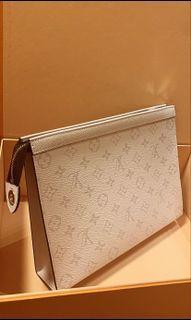 Louis Vuitton Pochette Voyage Antartica Silver