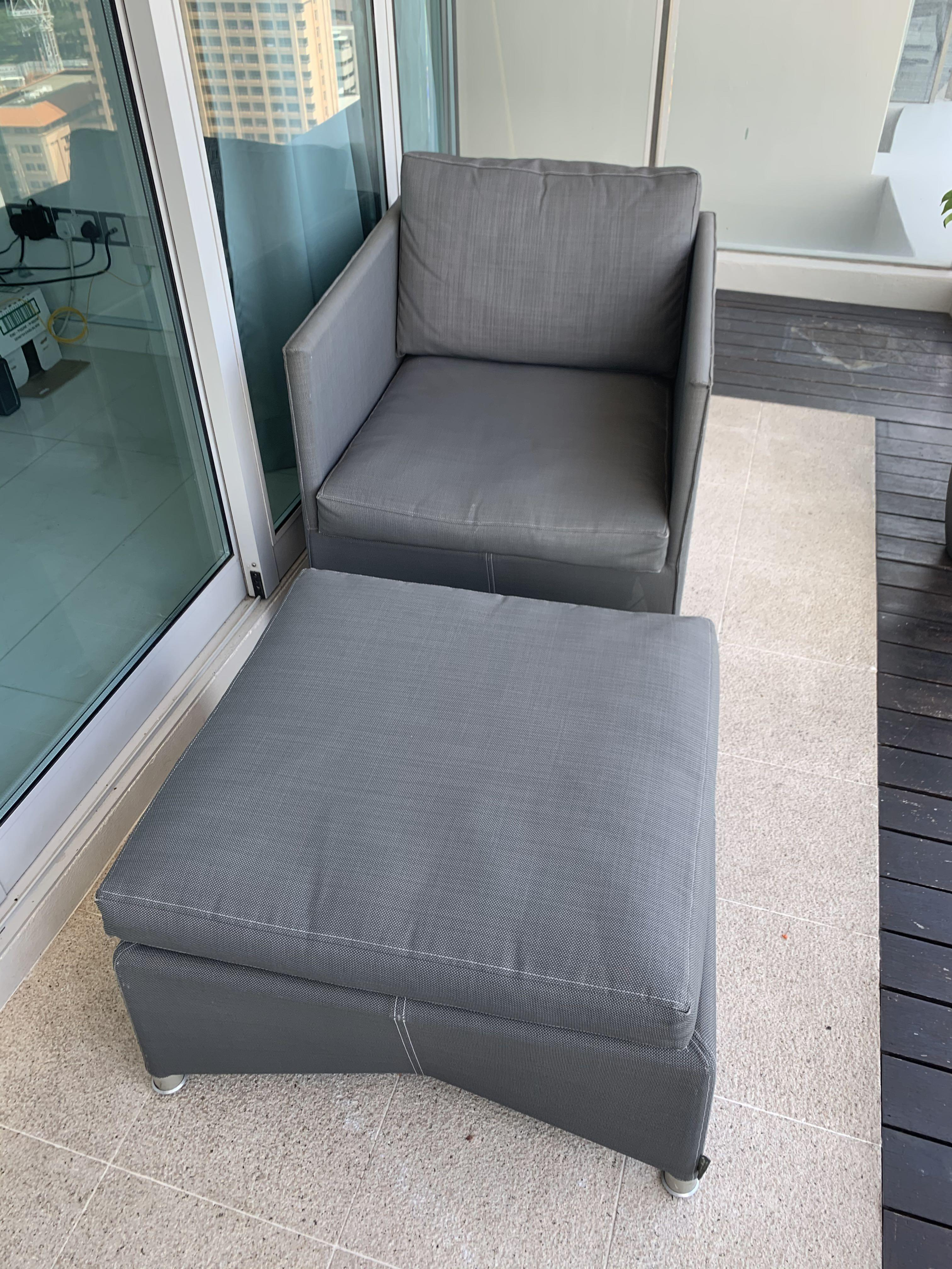 Outdoor Chair With Puff Convertible To Coffee Table Furniture Tables Chairs On Carousell